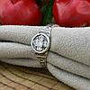 Серебряное кольцо Спаси и сохрани вставка белые фианиты вес 1.8 г размер 19.5, фото 2