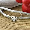 Серебряное кольцо Спаси и сохрани вставка белые фианиты вес 1.8 г размер 19.5, фото 5