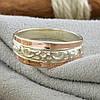 Серебряное кольцо с золотом Кира вес 2.6 г размер 17.5, фото 2