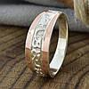 Серебряное кольцо с золотом Кира вес 2.6 г размер 17.5, фото 3