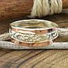 Серебряное кольцо с золотом Кира вес 2.6 г размер 17.5, фото 5
