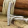 Серебряное кольцо Верона вставка белые фианиты вес 2.15 г размер 17, фото 2
