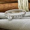 Серебряное кольцо Невеста вставка белые  фианиты вес 1.2 г размер 17, фото 3