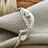 Серебряное кольцо Бесконечность вес 1.39 г размер 16 вставка белые фианиты, фото 2