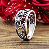 Серебряное кольцо Ажурное кружево вставка белые фианиты вес 2.35 г размер 19, фото 3