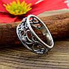 Серебряное кольцо Ажурное кружево вставка белые фианиты вес 2.35 г размер 19, фото 5