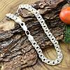 Серебряный браслет Тройной Бисмарк длина 24 см ширина 6 мм вес серебра 10.8 г, фото 4