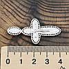 Серебряный крест Спаси и Сохрани размер 42х21 мм белая эмаль вес 3.8 г, фото 3
