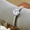 Серебряное кольцо ТС510208б вставка белые фианиты вес 2.12 г размер 17, фото 3