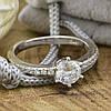 Серебряное кольцо ТС510208б вставка белые фианиты вес 2.12 г размер 17, фото 4