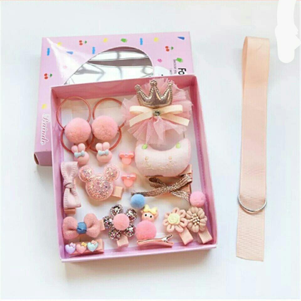 Набор детских заколок Gift for Soul Розовый 18 штук РР 18 С П
