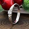 Серебряное кольцо вставка белые фианиты вес 1.1 г размер 16, фото 2