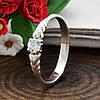 Серебряное кольцо вставка белые фианиты вес 1.1 г размер 16, фото 4