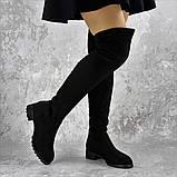 Женские ботфорты Elvis черные 1454 Размер 36 - 23 см, фото 5