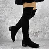 Женские ботфорты Elvis черные 1454 Размер 36 - 23 см, фото 6