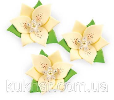 """Набір """"Лілії"""" 3 квітки (ЖОВТІ/КРЕМОВІ)"""