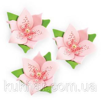 """Набір """"Лілії"""" 3 квітки (РОЖЕВІ)"""