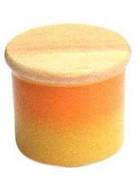 Банка 1,5 л для хранения сыпучих продуктов из фарфора с деревянной крышкой