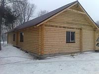 Строительство деревянного дома из бревна оцилиндрованного