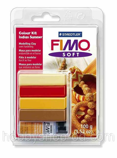 """Полимерная глина Фимо FIMO Soft набор для создания украшения """"Бабье лето""""   - Hobby Shop Odessa товары для творчества в Одессе"""