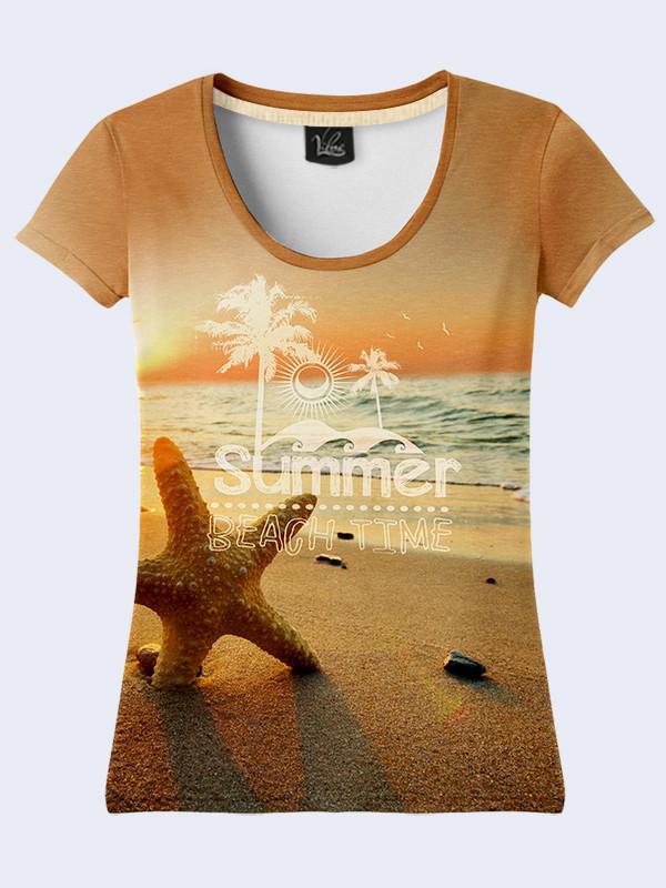 Женская футболка с принтом Морская Звезда