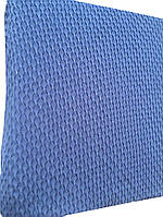 Натяжной чехол на диван без рюши Ромбы синий