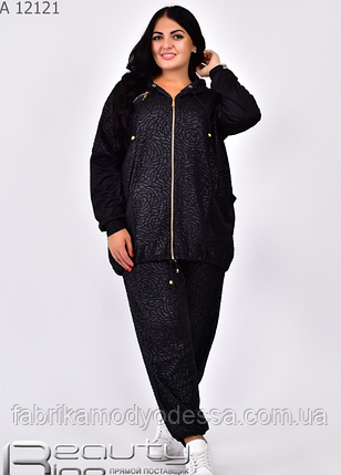 Спортивный костюм женский в большом размере Minova Украина Размеры: 54.56.58.60.62.64., фото 2