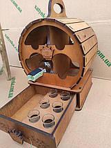 Мини-бар Бочка  с рюмками, фото 3