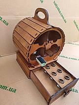 Мини-бар Бочка  с рюмками, фото 2