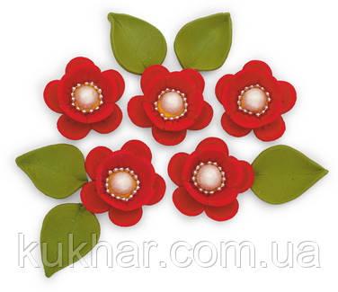 """Набір """"Яблуневий цвіт"""", яскраво-червоний"""