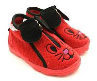 Обувь детская домашняя / прогулочная. Модель 021 / красный. Размеры: от 22 до 25,5.