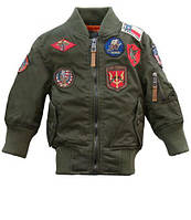 Дитячий бомбер Top Gun Kids MA-1 Aviator Bomber TGKMA-1 (Olive)