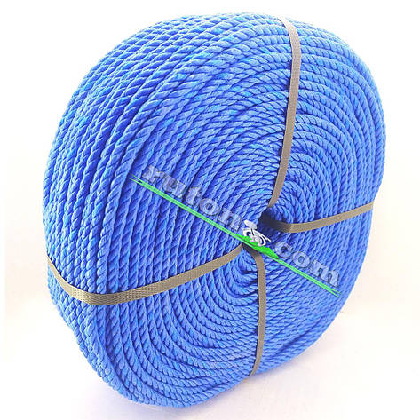 Мотузка рибальська кручена 4,0 мм 200 м для снастей, фото 2