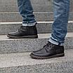 Шкіряні чоловічі черевики на хутрі 40-44 чорний тайфун+нубук, фото 2