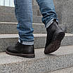 Шкіряні чоловічі черевики на хутрі 40-44 чорний тайфун+нубук, фото 5