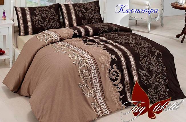 Двуспальный комплект постельного белья коричневого цвета с узорами, Ранфорс, фото 2