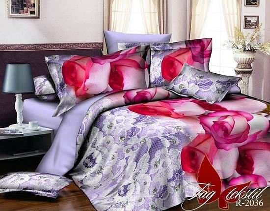 Двуспальный комплект постельного белья с розами, Ранфорс, фото 2