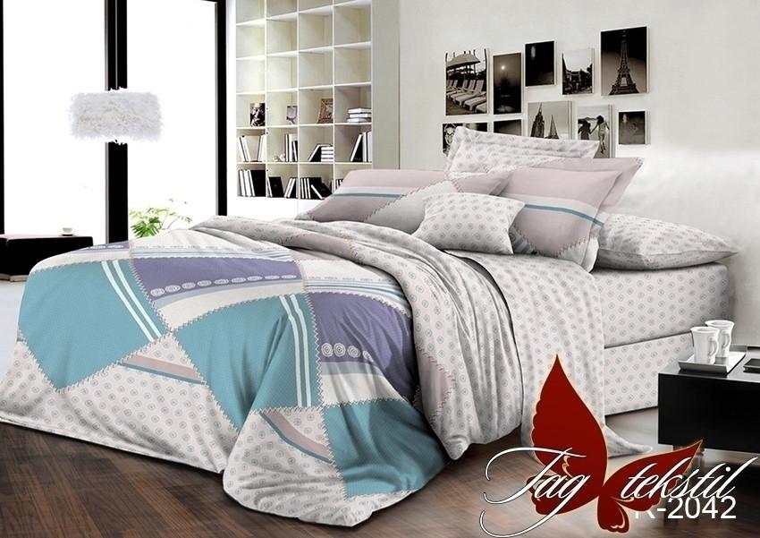Двуспальный комплект постельного белья с геометрическими узорами, Ранфорс