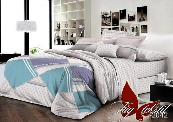 Двуспальный комплект постельного белья с геометрическими узорами, Ранфорс, фото 2