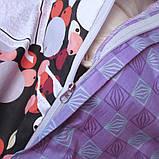 Двуспальный комплект постельного белья с бабочками, Сатин-люкс, фото 2