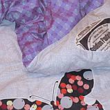 Двуспальный комплект постельного белья с бабочками, Сатин-люкс, фото 6