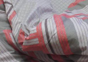 Двуспальный комплект постельного белья серого цвета в полоску, Сатин-люкс, фото 2
