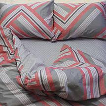 Двуспальный комплект постельного белья серого цвета в полоску, Сатин-люкс, фото 3
