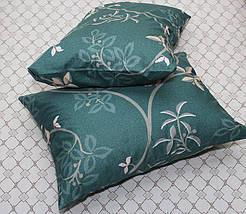 Двуспальный комплект постельного белья зеленого цвета с цветами, Сатин-люкс, фото 2