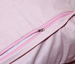 Двуспальный комплект постельного белья розового цвета с цветами, Сатин-люкс, фото 2