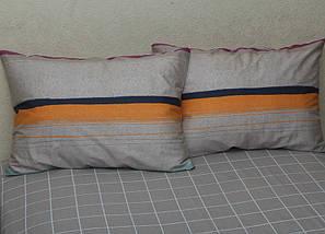 Двуспальный комплект постельного белья в полоску, Сатин-люкс, фото 3
