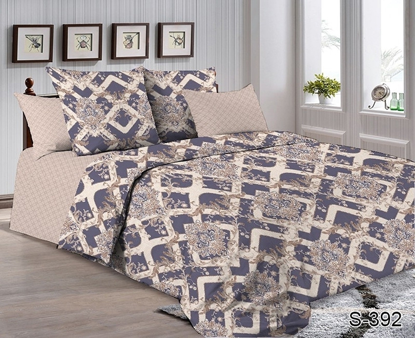 Двуспальный комплект постельного белья с абстрактными узорами, Сатин-люкс
