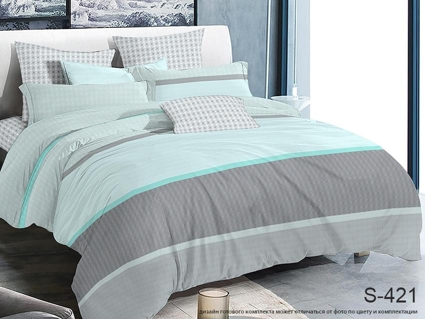 Двуспальный комплект постельного белья в полоску, Сатин-люкс