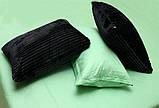 Двуспальный комплект постельного белья зима-лето черного цвета в полоску, Сатин, фото 4