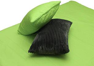 Двуспальный комплект постельного белья зима-лето серого цвета в полоску, Сатин, фото 3